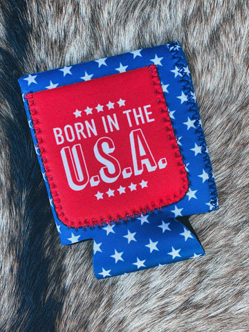 Born In The USA Koozie-Southern Fried Chics