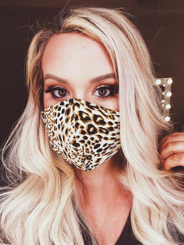 Stretchy Adult Face Mask - Leopard