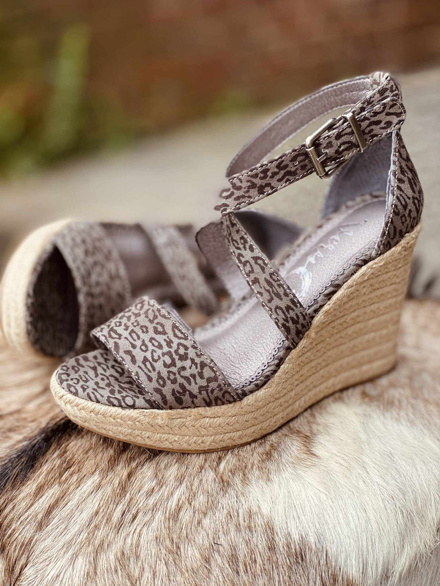 Patti Wedge - Grey-Southern Fried Chics
