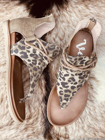 Sparta Sandal - Leopard-Southern Fried Chics