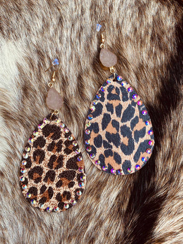 Mixing It Up Earrings - Leopard-Southern Fried Chics