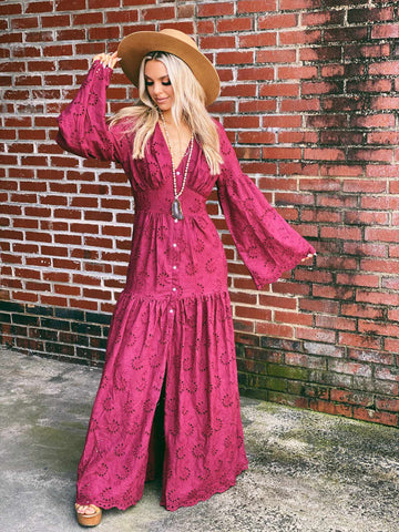Stevies Secret Dress - Plum-Southern Fried Chics