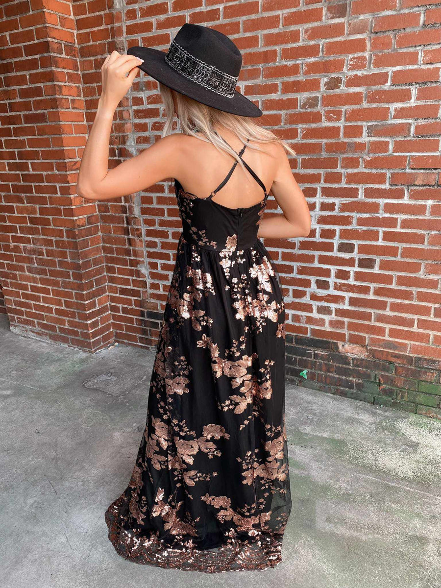 Midnight Blush Dress-Southern Fried Chics