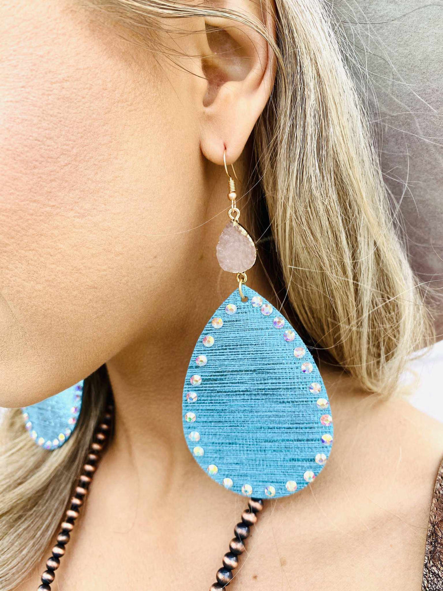 Mixing It Up Earrings - Tiffany Blue-Southern Fried Chics