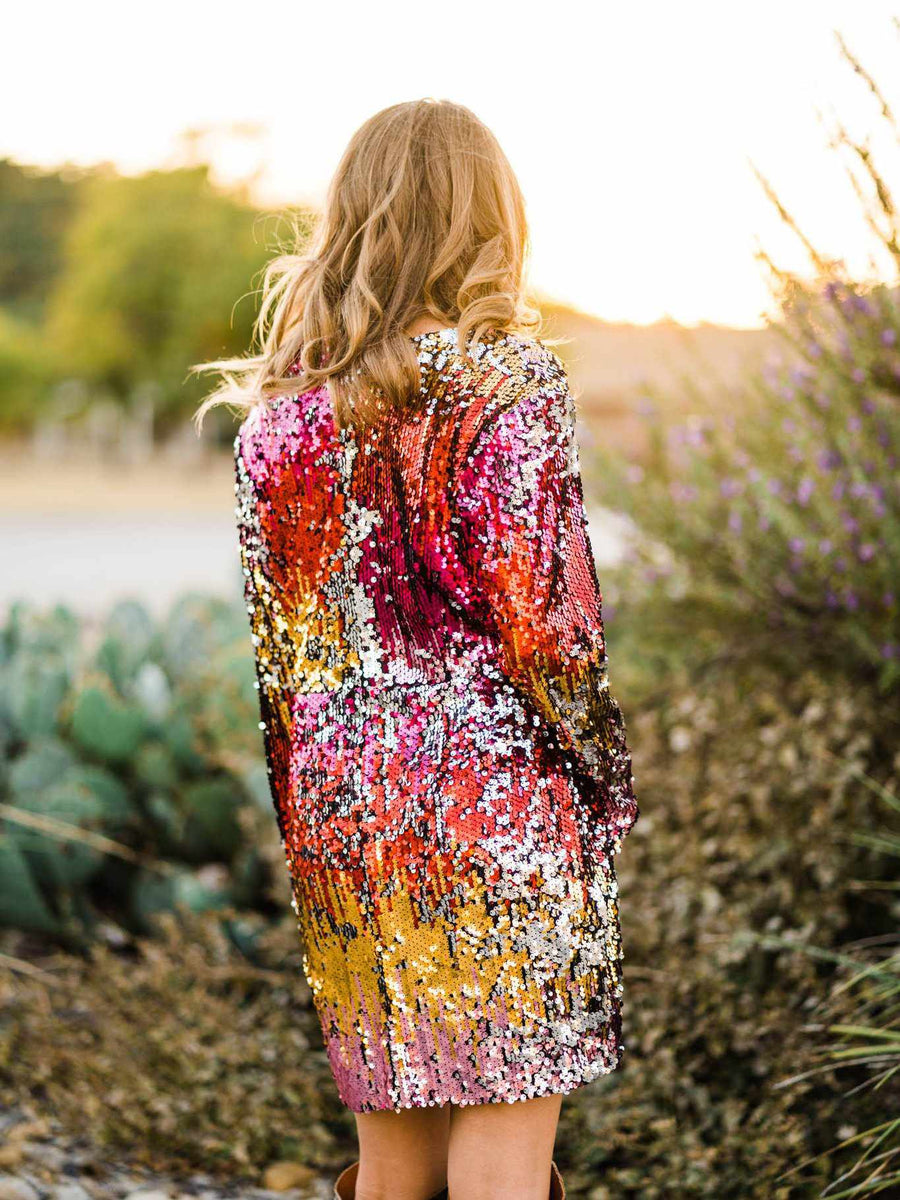 Sequin Fire Cocktail Dress-Southern Fried Chics