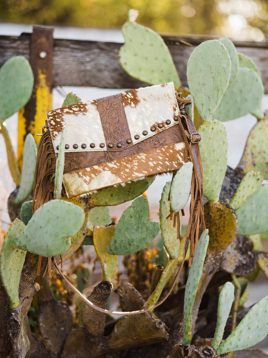SFC Leopard & Fringe Small Cross Body Bag-Southern Fried Chics