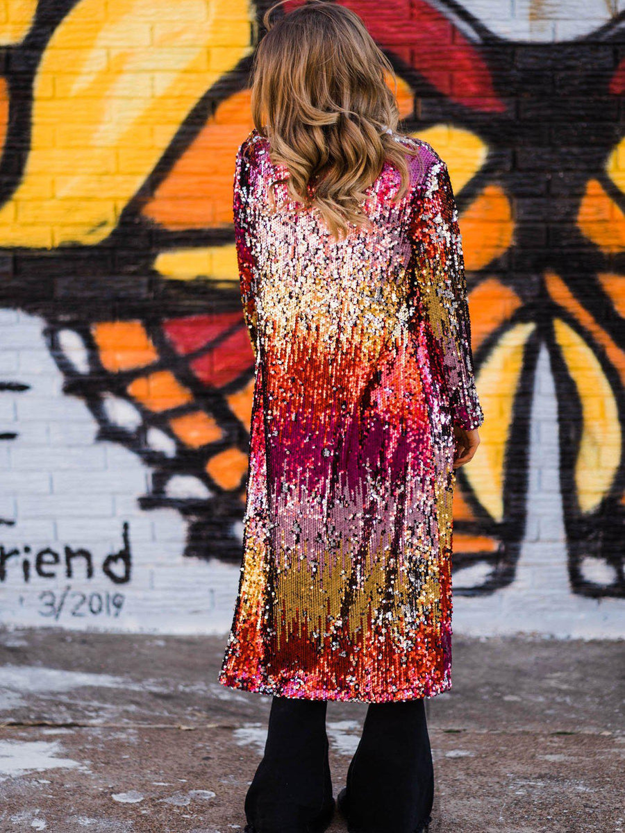 Sequin Fire Duster