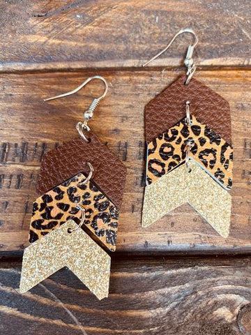 Go Your Own Way Earrings - Brown-Southern Fried Chics