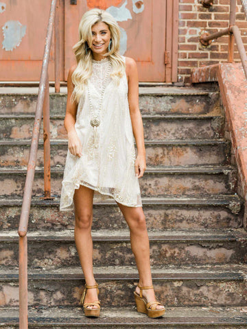 Southern Serendipity Sequin Dress - Gold-Southern Fried Chics