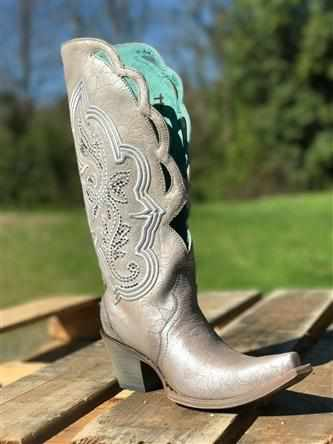 Silver Embroidery & Swarovsky Boot by Corral