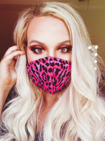 Adult Mask - Pink Leopard-Southern Fried Chics