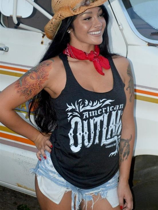 American Outlaw Racerback Tank by Country Deep