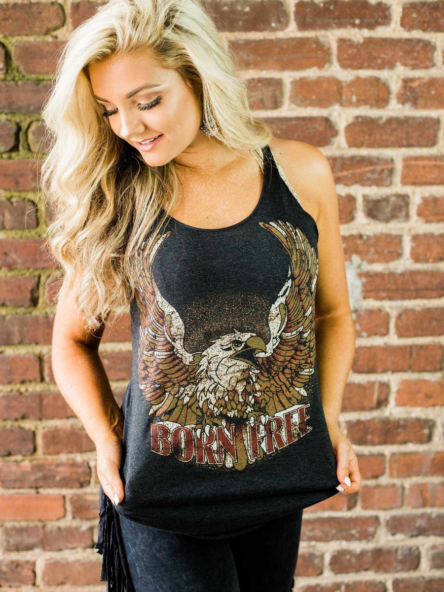 Born Free Racerback Tank by Country Deep