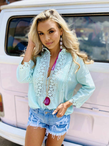 Busy Bee Top - Mint
