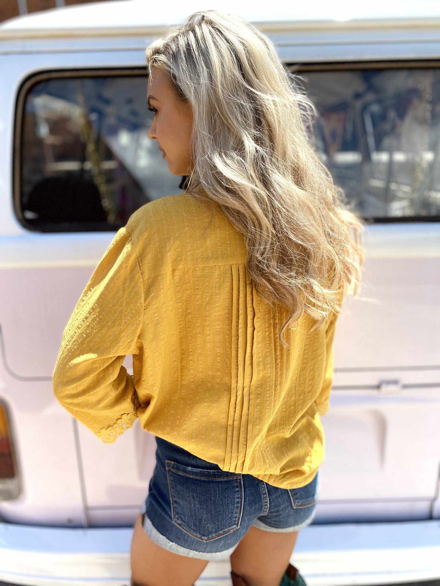 Busy Bee Top - Mustard