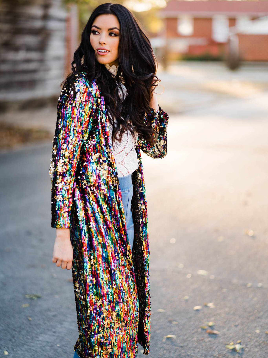 Confetti Cowgirl Sequin Duster-Southern Fried Chics