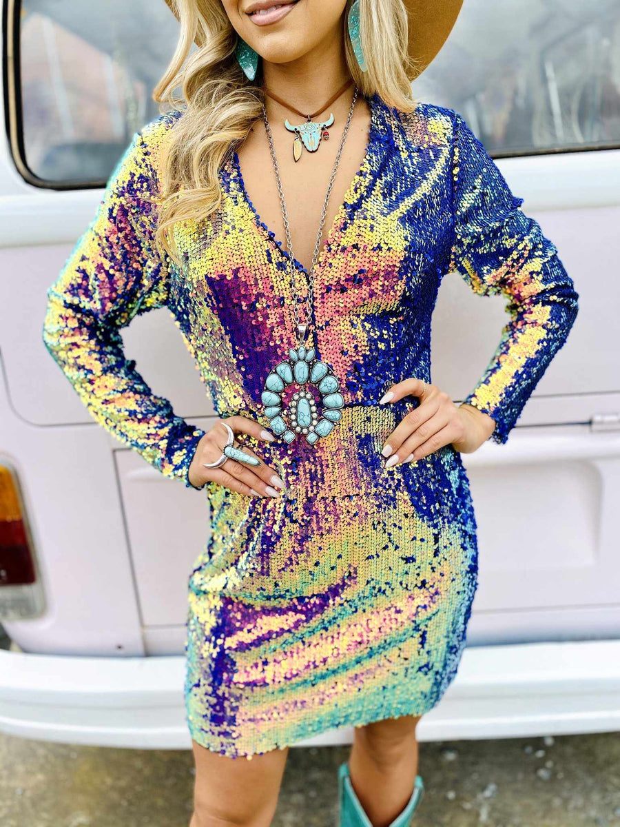 Cosmic Cowgirl Cocktail Dress-Southern Fried Chics