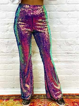 Cosmic Cowgirl Sequin Flare Pants-Southern Fried Chics