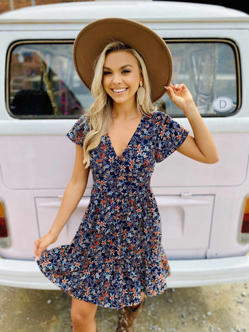 boho country chic floral dress