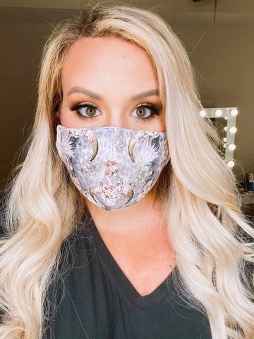 Filtered Adjustable Adult Mask - Steer-Southern Fried Chics