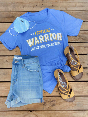 Frontline Warrior Tee - Blue