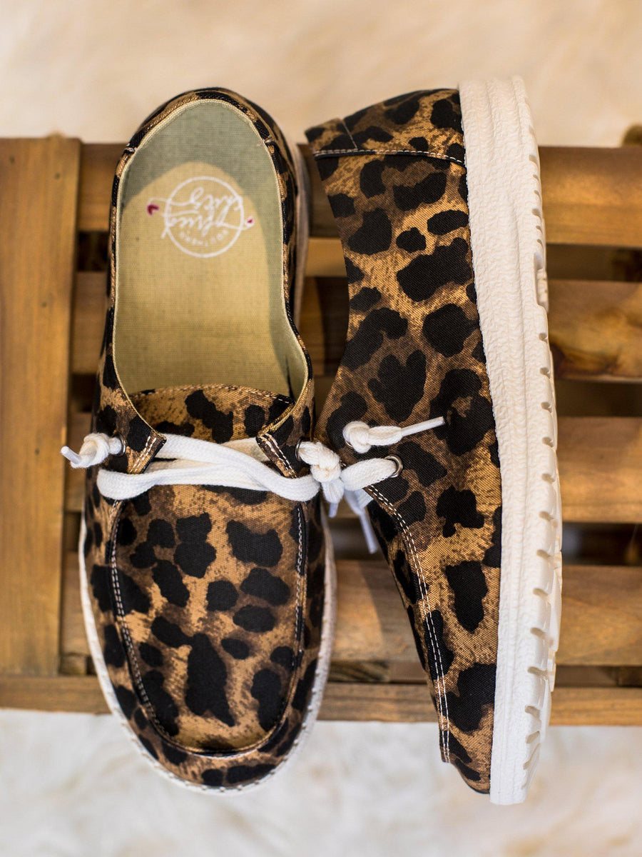 Howdy Chic Loafers - Brown Leopard