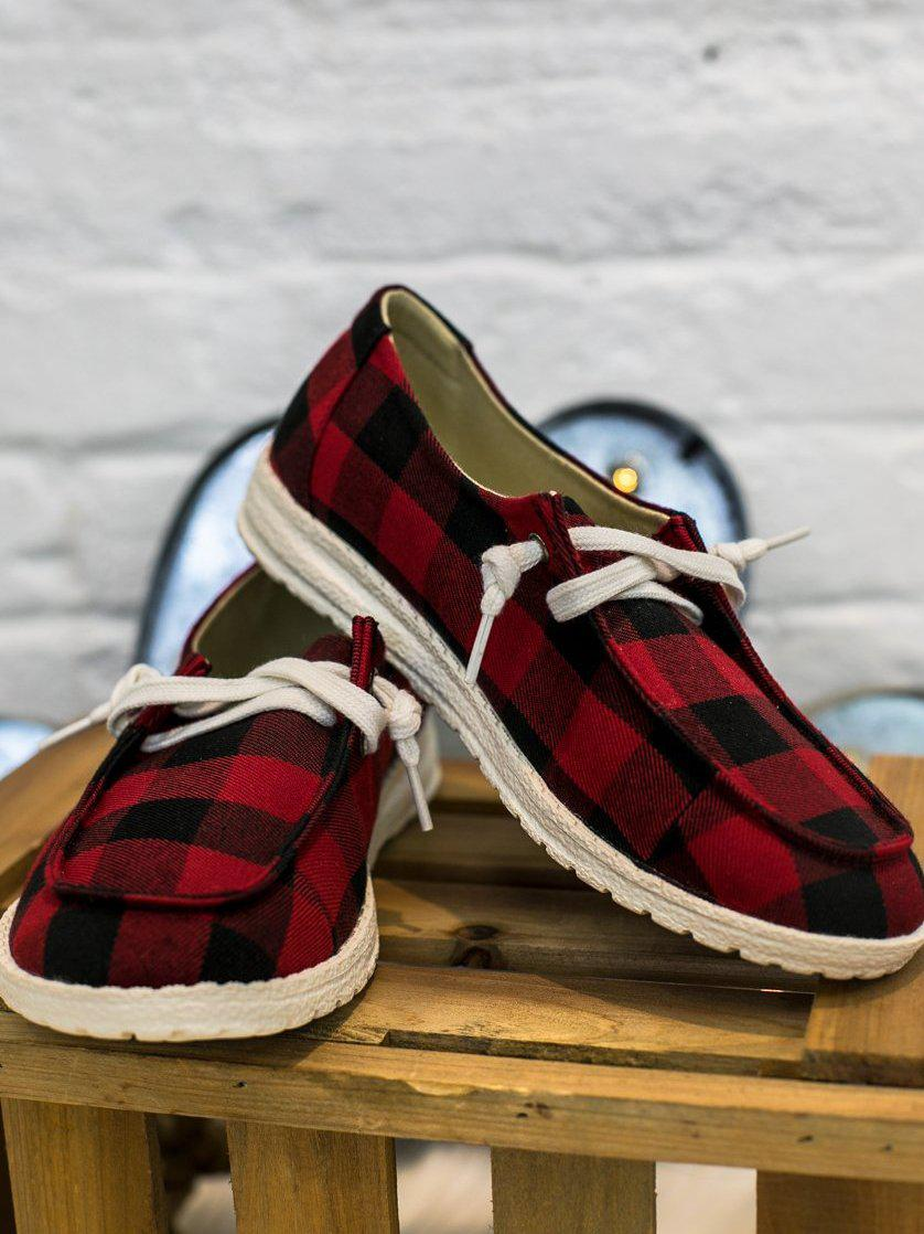 Howdy Chic Loafers - Buffalo Plaid