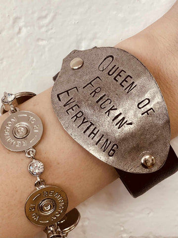 Queen of Freakin' Everything Bracelet - Black