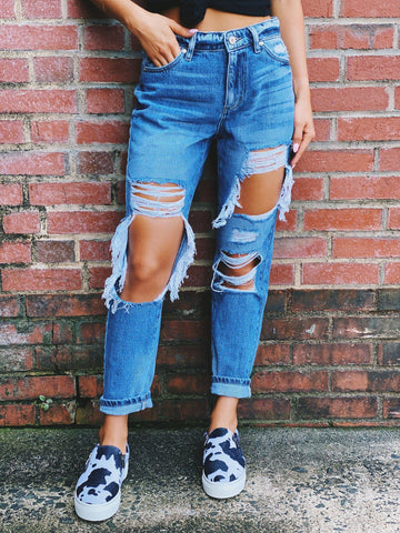 Taylor High Rise Boyfriend Jeans-Southern Fried Chics