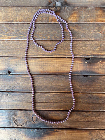 The Essential Double Wrap Necklace - Light Purple-Southern Fried Chics