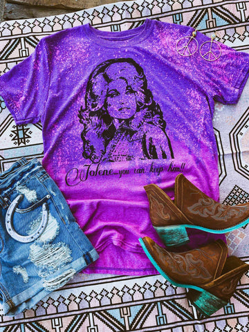 Jolene You Can Keep Him Tee - Purple Pink