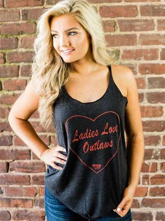 Ladies Love Outlaws Tank Top by Country Deep