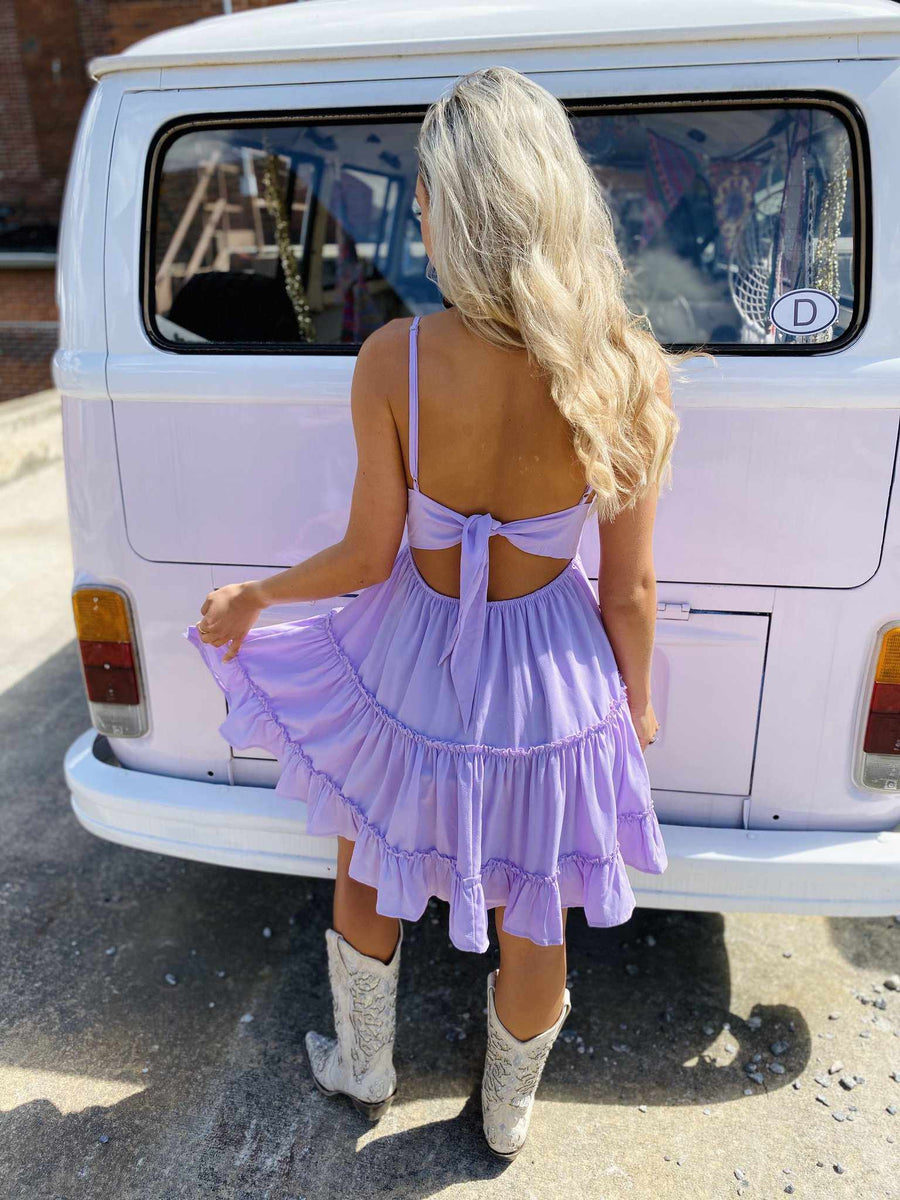 Let Me Down Easy Dress - Lavender
