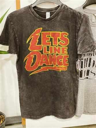 Let's Line Dance Tee - Vintage Black