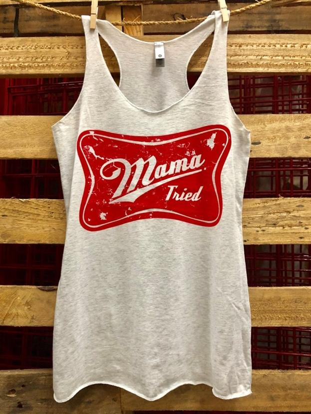Mama Tried Racerback Tank Top by Country Deep