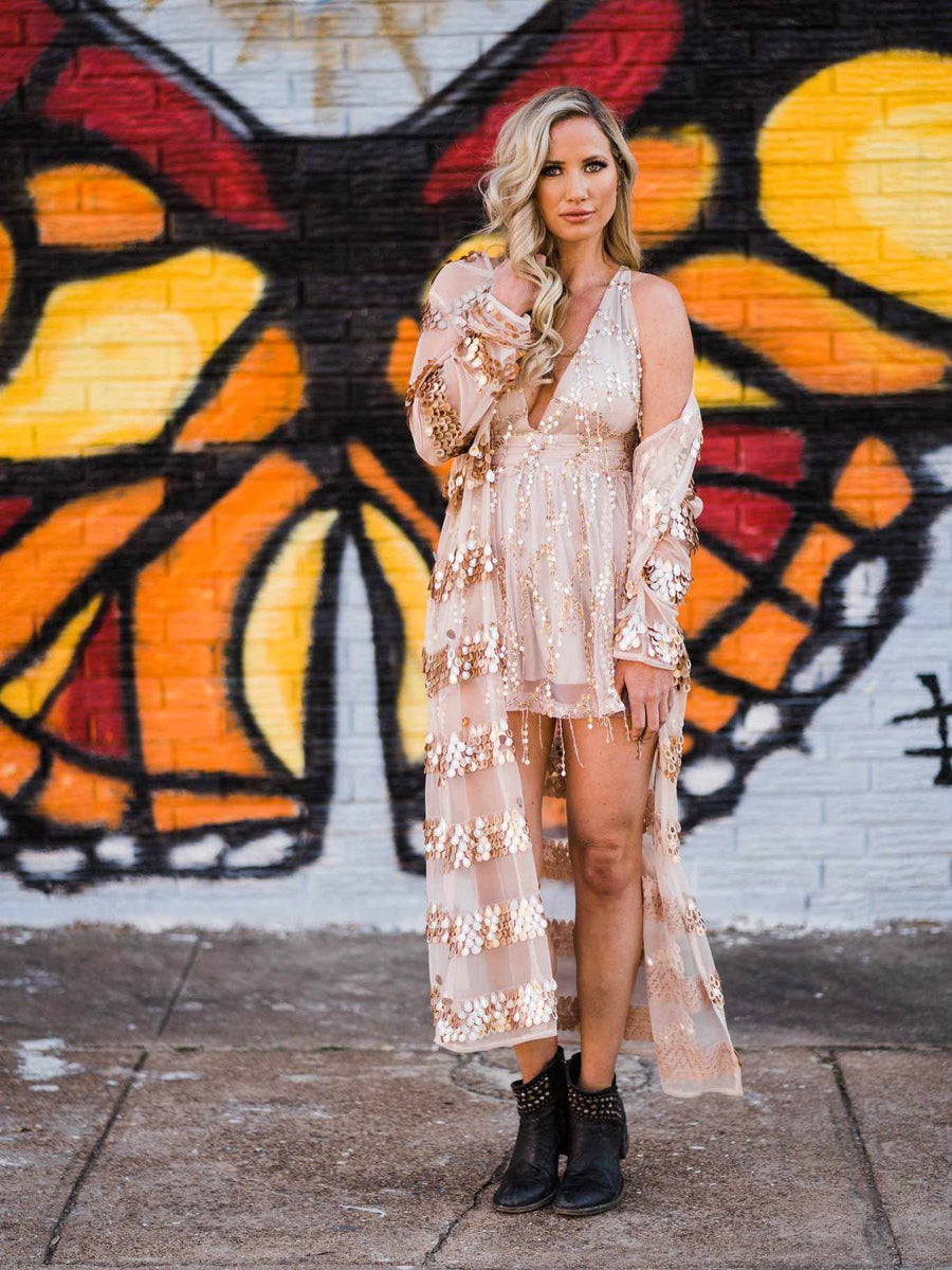 Nashville Nights Sequin Stripe Duster-Southern Fried Chics