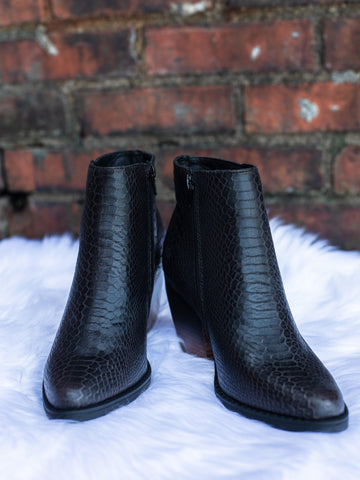 Snake Two Tone Black Bootie