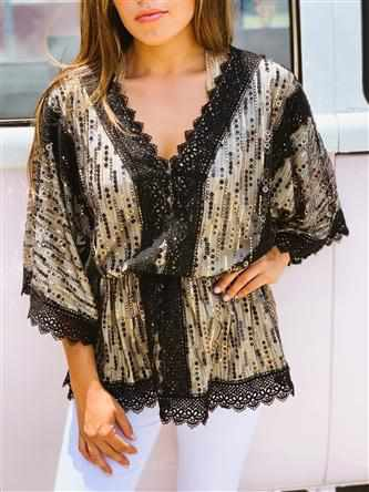 Middle Of A Memory Sequin Tunic Top