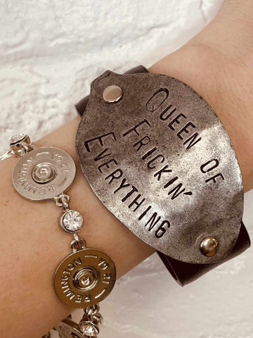 Queen of Freakin' Everything Bracelet - Brown-Bracelets-Southern Fried Chics