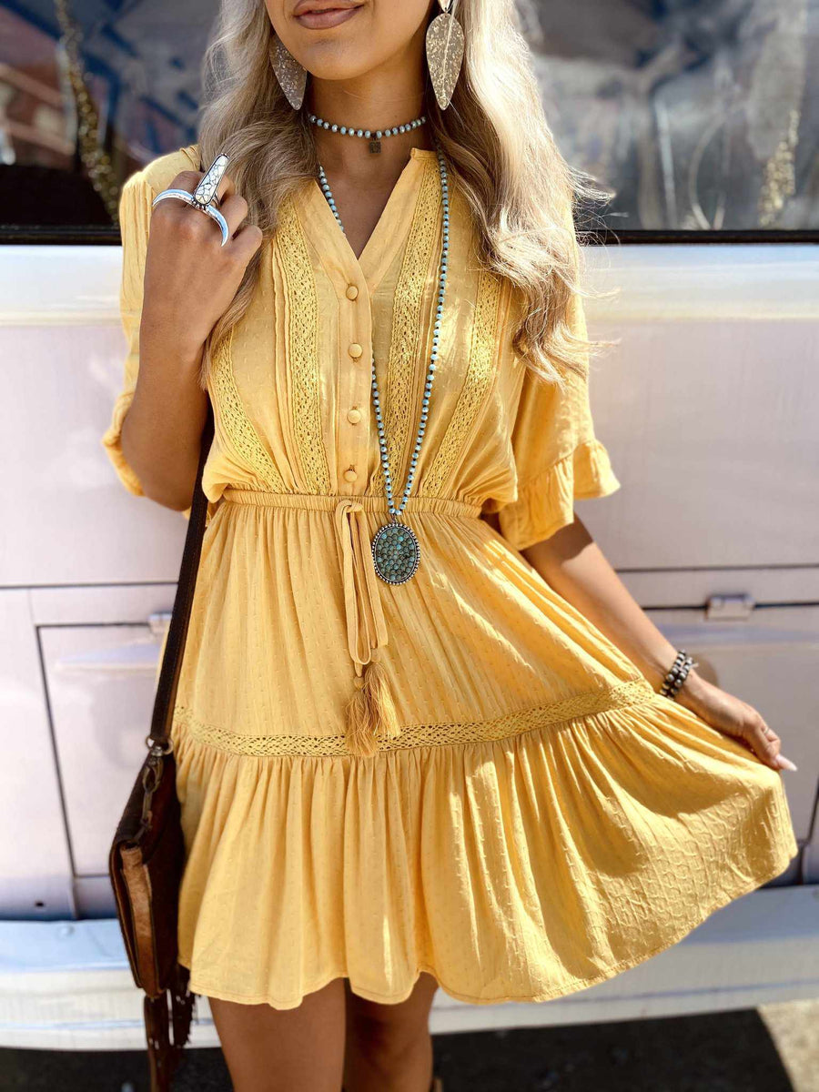 Pockets Full Dress - Mustard