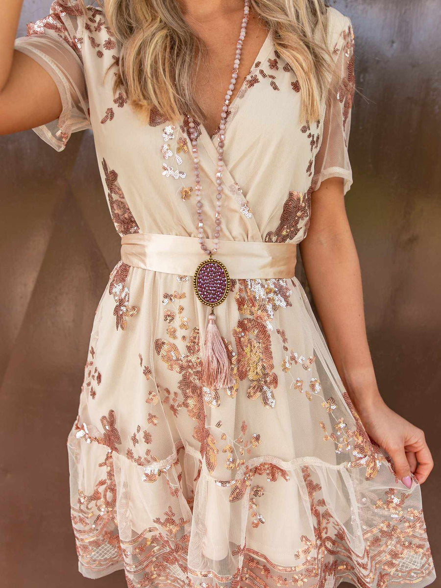 Catching Compliments Rose Gold Dress