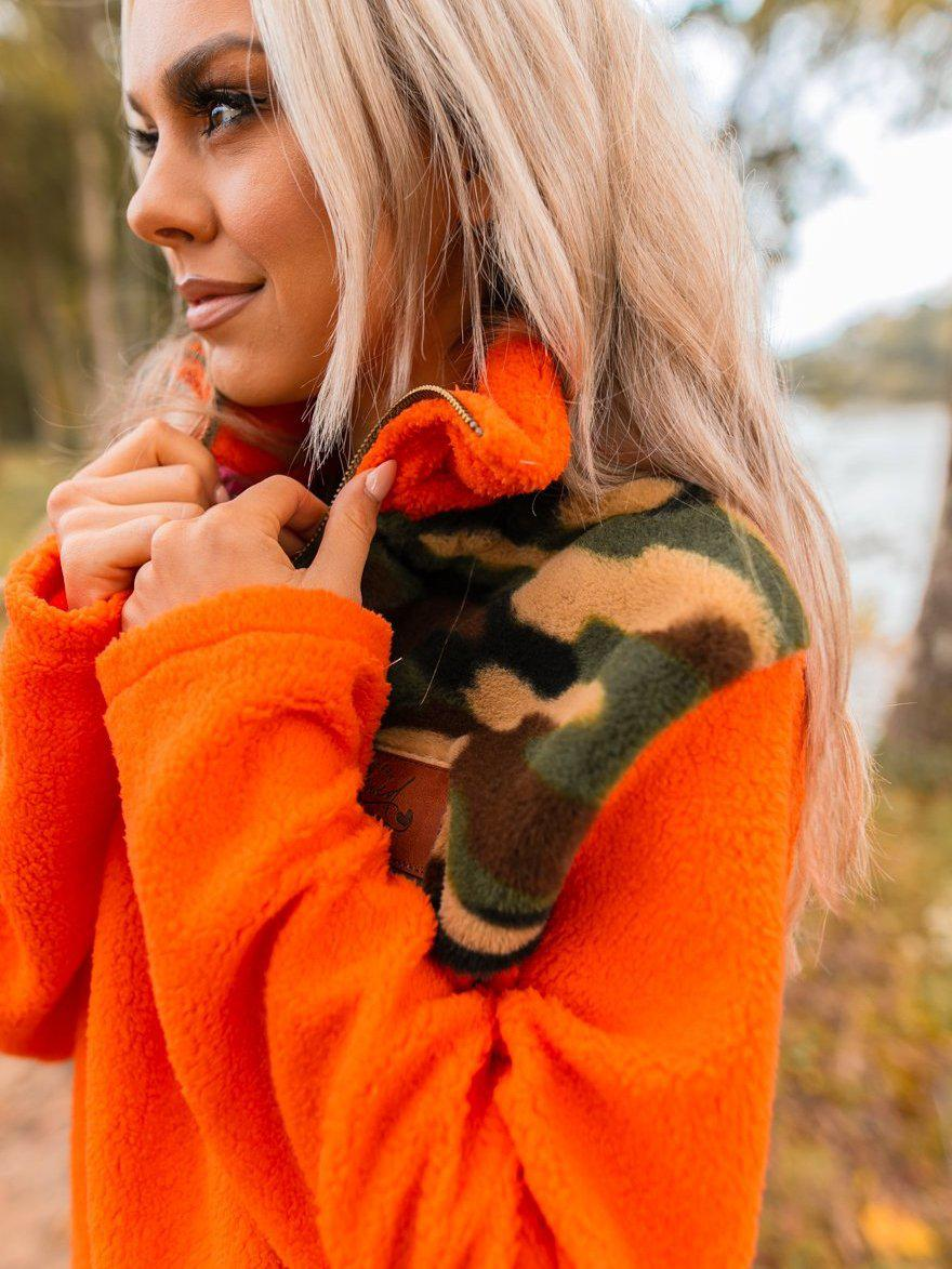 Crazy About Camo Sherpa - Orange