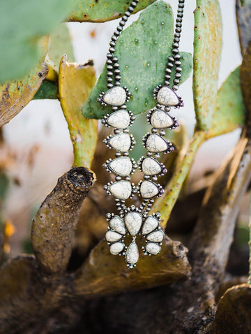 Southern Fried Squash Blossom Necklace - Bone-Southern Fried Chics