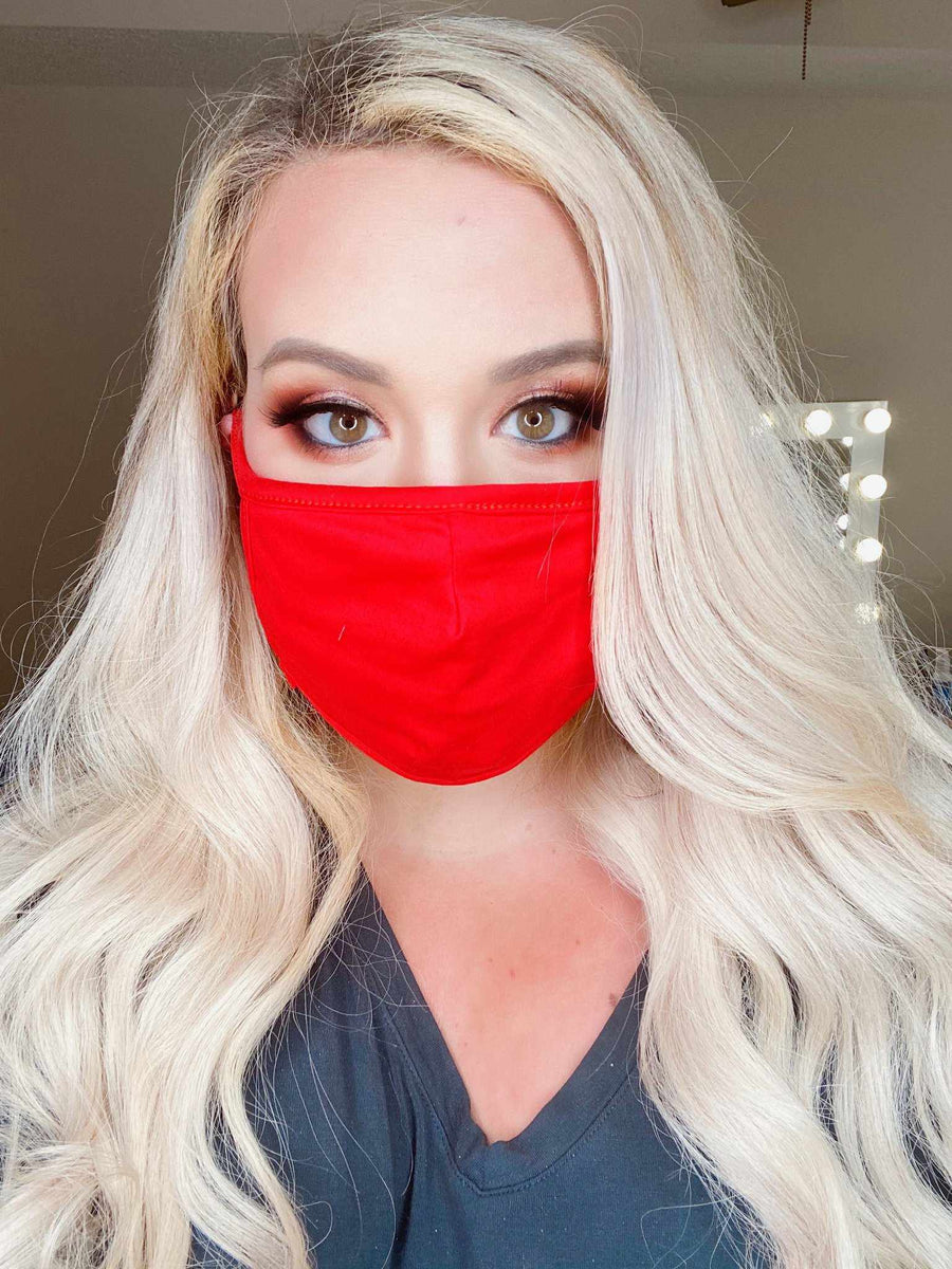 Stretchy Adult Face Mask - Blood Orange-Southern Fried Chics