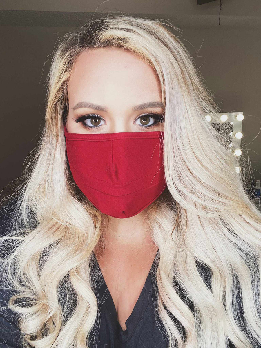 Stretchy Adult Face Mask - Burgundy-Southern Fried Chics