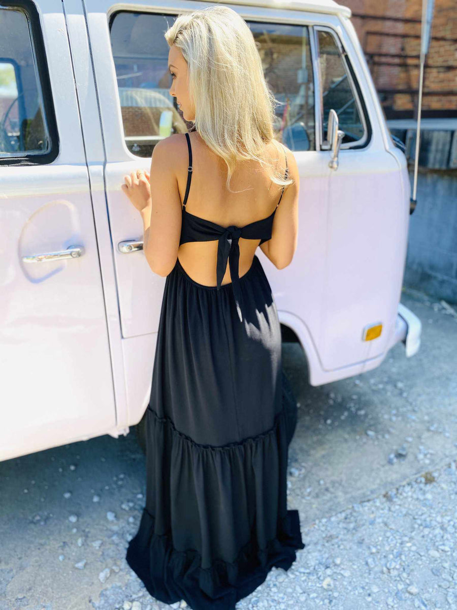 Summertime Sippin Dress - Black-Southern Fried Chics