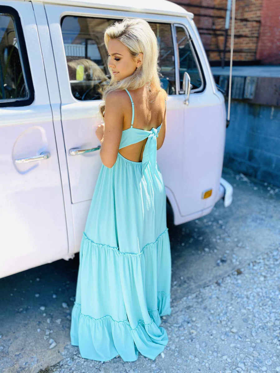 Summertime Sippin Dress - Mint-Southern Fried Chics