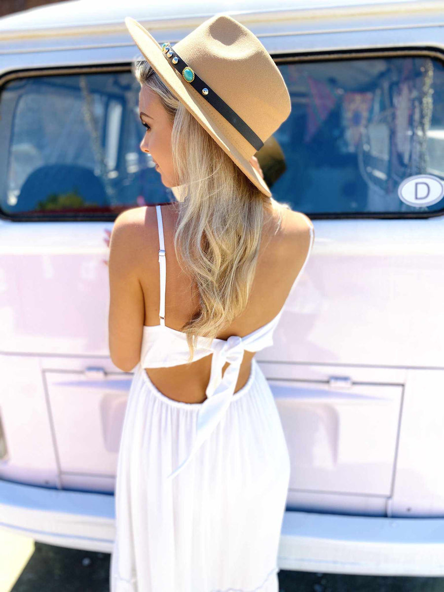 Summertime Sippin Dress - White-Southern Fried Chics