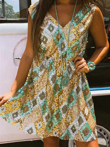 Sweet As Sugar Sequin Dress (PRE-ORDER) - Mint