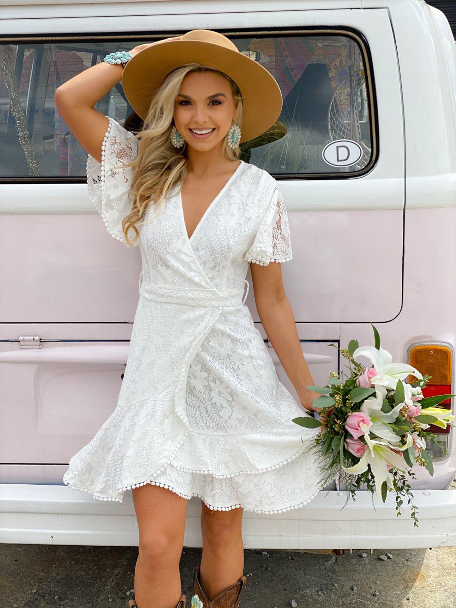 Sweetest Thing Dress - White-Southern Fried Chics